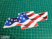 American flag Chevrolet emblem decal for the 1998-2004 Chevy Blazer