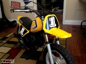 Yamaha YZinger graphics, factory sticker kit.