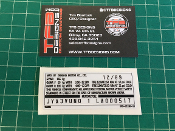 Yamaha YSR50 replacement VIN number decal.