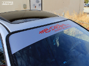 Windshield banner for the Acura Interga