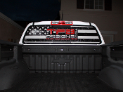 American flag full window decal with logo fits 2015-2018 Chevy Colorado