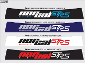 NorCal ST RS windshield banner for the Ford Focus and Focus ST