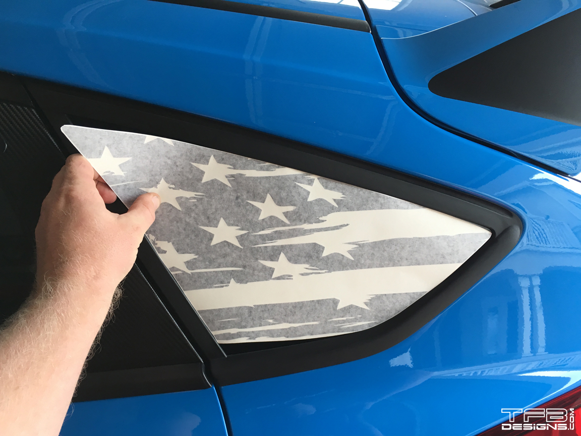 American flag rear window decals 13 18 ford fiesta and fiesta st