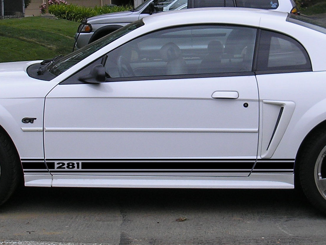 Ford ford mustang 99 : Side Stripes - 1999-2004 Ford Mustang / GT 99-04 - Stripe Kit